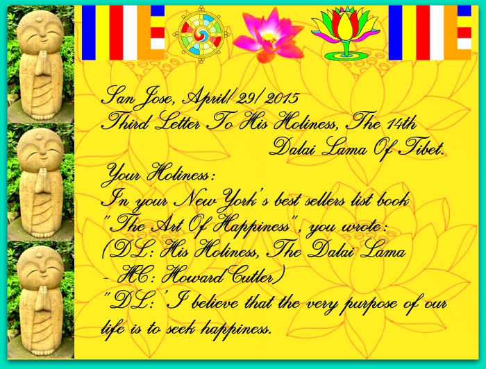 Third Letter Sent To Congratulate Dalai Lama On His Eightieth Birthday, TE2_A